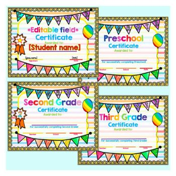 Editable Digital Printable End Of The Year Certificates And Awards Classroom Awards Certificate Digital Certificate