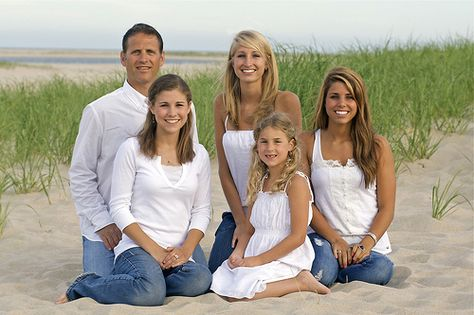 Great family beach pose