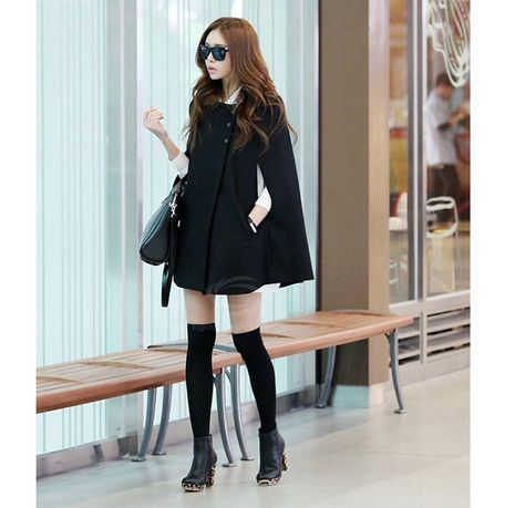 Black Bat Cape Coat - Fashion Clothing, Latest Street Fashion At www.es You should have a nice coat in the cold winter.