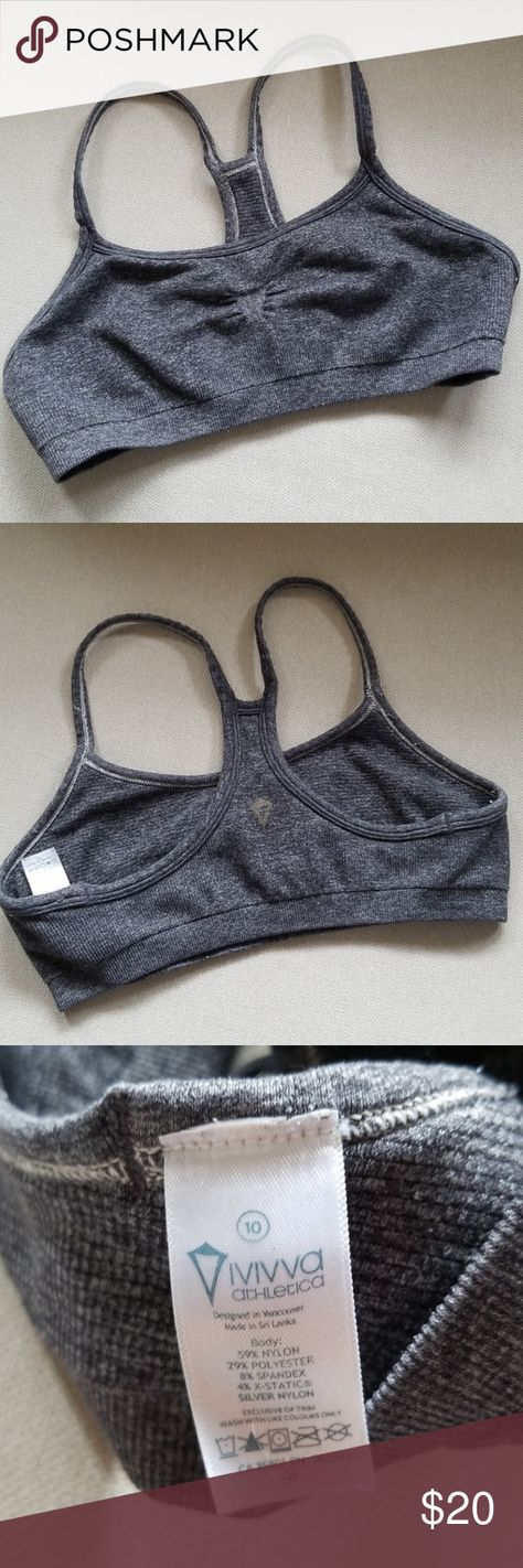 7deba4696c GUC Ivivva Girls Drill Sport Bra GUC Ivivva Girls Drill Sport Bra in  heather grey color