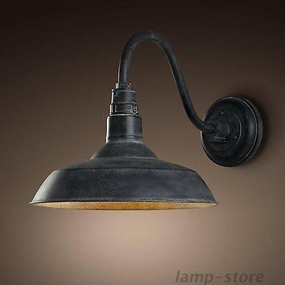 Retro Industrial Gooseneck Barn Wall Sconce Lamp Fixture Vintage Wall Light Barn Lighting Farmhouse Light Fixtures Outdoor Sconces
