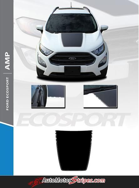 2013 2020 Ford Ecosport Amp Center Hood Accent Vinyl Graphic 3m