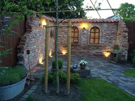 Bildergebnis für steinmauer sichtschutz Garten Pinterest - steinmauer garten mediterran