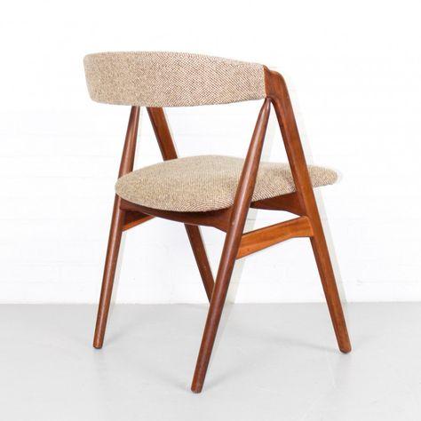 Scandinavische Design Stoelen.For Sale Vintage Danish Design Dining Chair By Th Harlev For