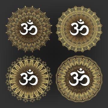 Aum Symbol Of Hindu Deity God Shiva Set Vector Aum Symbol Hindu Png And Vector With Transparent Background For Free Download Aum Symbol Logo Design Free Templates Hindu Deities