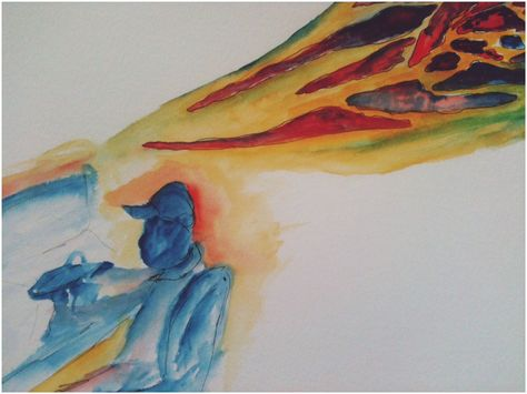 """I quickly, absentmindedly painted this after I finished """"Breaking free of the Codependency Trap"""" by Janae and Barry Weinhold, it states """"neither co nor counter dependency oriented social systems make us responsible for taking care of our own needs or for looking at how our personal behavior is part of a larger problem."""""""