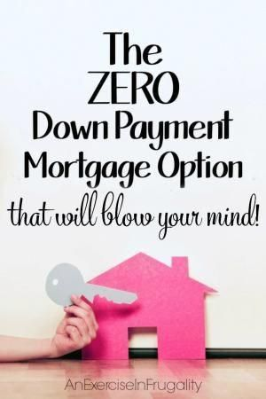 The Down Payment Mortgage Option - Not a lot of people know that the USDA has a home loan program, but it can mean buying a home with zero down payment, which was such a blessing for us!- An Exercise In Frugality insurance No Down Payment Mortgage Option Home Buying Tips, Buying Your First Home, Home Buying Process, Mortgage Tips, Mortgage Calculator, Mortgage Payment, Mortgage Rates, Mortgage Humor, Federal