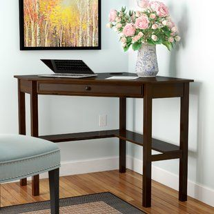 Corner Desks You Ll Love Wayfair Solid Wood Writing Desk Corner Desk Wood Corner Desk
