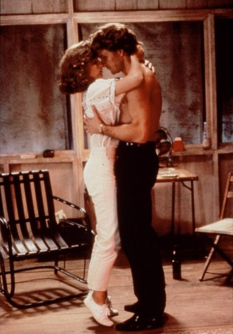 My all time favorite scene. Baby's scared of leaving this room and never feeling the way she does when she's with Johnny.  Jennifer Grey and Patrick Swayze in Dirty Dancing.