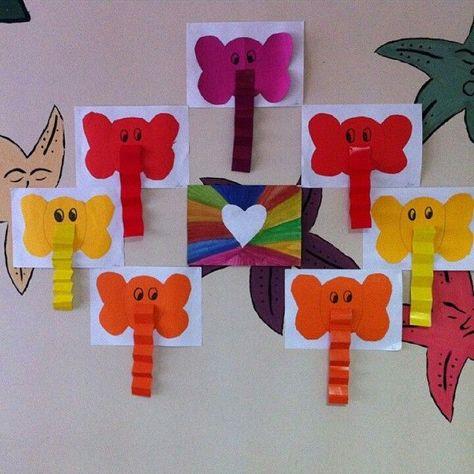 Resultado De Imagen De Elephant Craft Ideas Animaux Crafts For