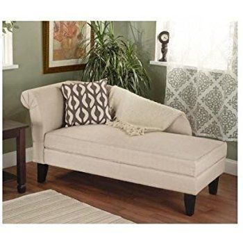 Beige Tan Storage Chaise Lounge Sofa Chair Couch For Your Bedroom
