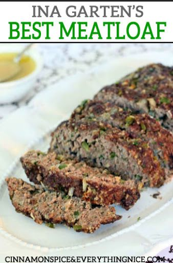 Ina Garten S Meatloaf With Olive Oil Spanish Onion Green Pepper Ground Beef Ground Veal Ground Pork Fre Meatloaf Ina Garten Meatloaf Recipe Best Meatloaf