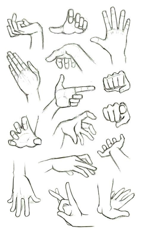 Hand Reference Anime Drawings In 2020 Drawing People How To Draw Hands Sketches