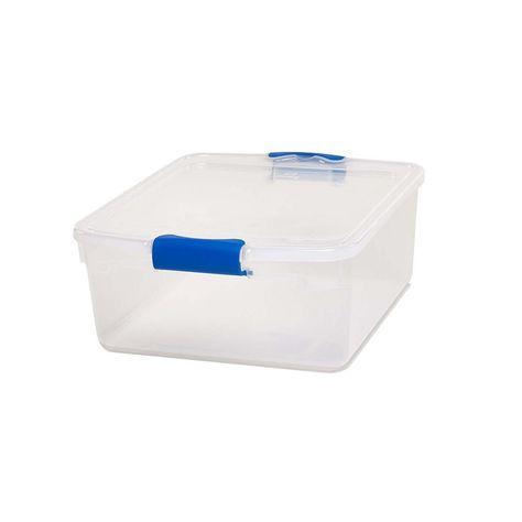 Homz 15 5 Qt Latching Clear Storage Box 4 Pack 3420clrecom 04