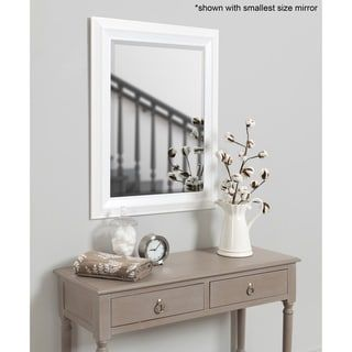 Whitley Classic Framed Beveled Wall Mirror White Large Over 32 High White 29 5x41 5 Kate And Laurel Mirror Wall Framed Mirror Wall Rustic Mirrors