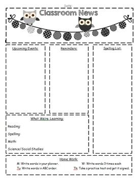 classroom newsletter templates newsletter templates monthly