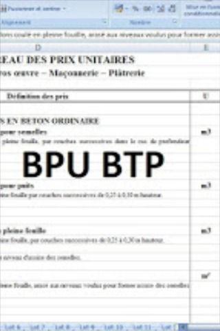 Bordereau De Prix Batiment Gratuit Exemple Bpu Btp Exemple Devis Devis Batiment Batiment