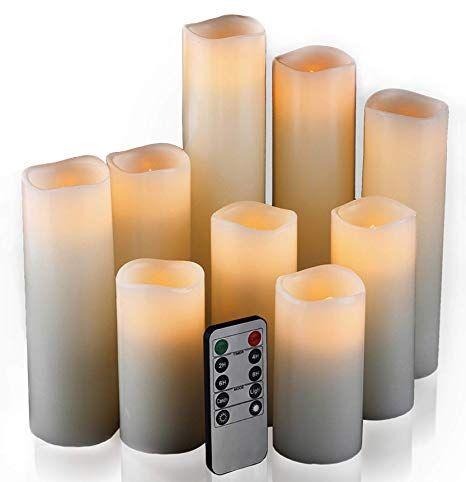 20 Amazon Com Flameless Candles Led Candles Set Of 9 H 4 5 6