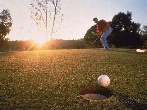 Man Hitting Golf Ball Golf Courses Golf Photography Golf