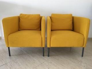 Dos Sillones Color Mostaza De Ikea Los Entregamos Montados Tienen Dos Meses Los Vendemos Por Mudanza Ni Un Rasguno Han Sillones Color Mostaza Muebles