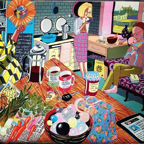 Grayson Perry's tapestries are @Victoria Brown Brown Miro gallery in London until 11 August