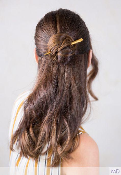 1x Women ebony wooden Oriental Updo Bun Styling boho hair Pin Stick Chopstick