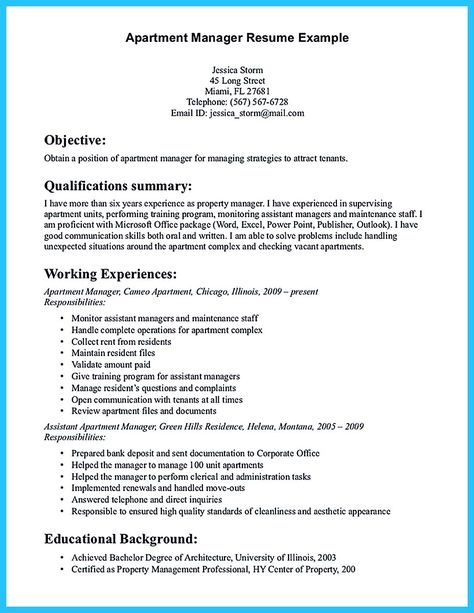 Property Manager Resume Sample More For Me Pinterest Property