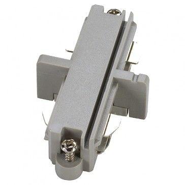 Längsverbinder für 1-Phasen HV-Stromschiene, Aufbauversion, silbergrau / LED24-LED Shop