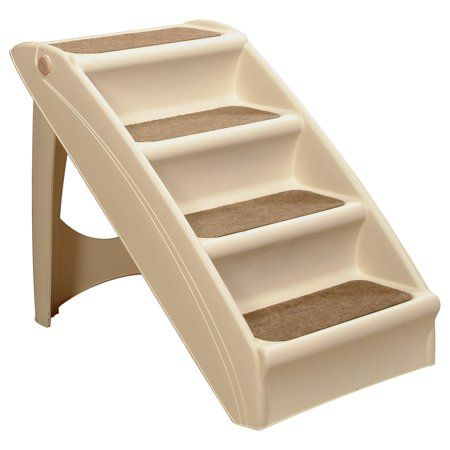 Petsafe Cozyup Folding Pet Step Lightweight And Easy To Carry No Slip Access 20 In Tan Walmart Com Pet Stairs Dog Stairs Dog Steps