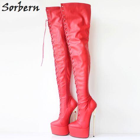 30CM Extreme High Heel Metal Heels Platform Boots