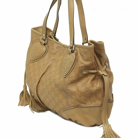 a310a070d8a8 Gucci Brown Guccissima Leather Tribeca Tote Bag with Tassels LESS USED  Handbag
