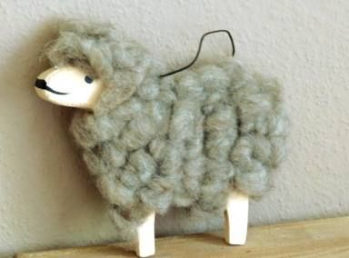 Holz Schaf Natur Wolle Braun Zum Hangen 11 Cm X 14 Cm Schafe Bastelideen Deko