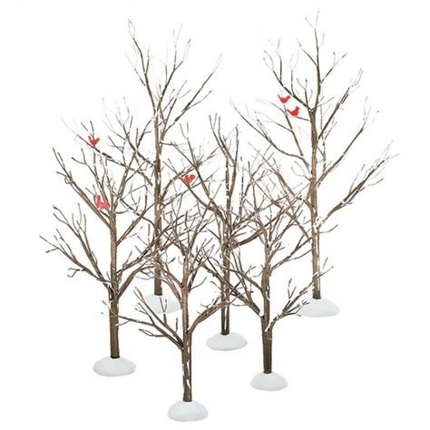 "12/"" Item# 52167 Large Winter Birch Tree NO BOX  Village Accessories D56"