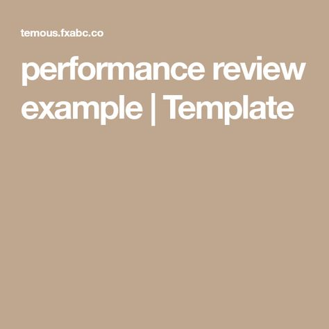 performance review example Template Employee evaluation - performance review example