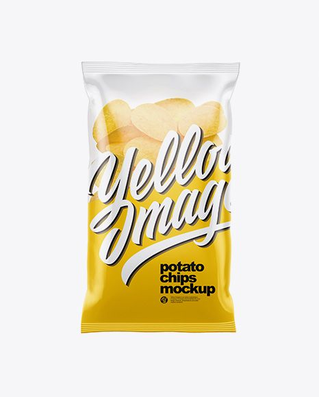 Clear Plastic Bag With Potato Chips Mockup In Bag Sack Mockups On Yellow Images Object Mockups Mockup Free Psd Psd Mockup Template Mockup Free Download