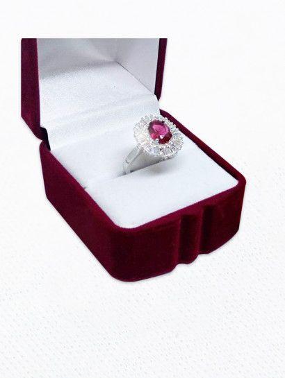 خاتم فضة عيار 925 حريمى بحجر احمر ولا اشيك من كده خصم 30 لفترة محدودة البيع بالقطعة Wedding Rings Engagement Rings Accessories