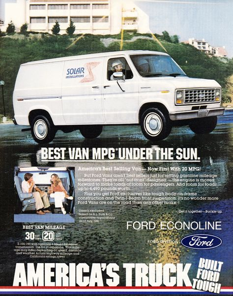 1986 Ford Club Wagon Van Original Sales Brochure U.S