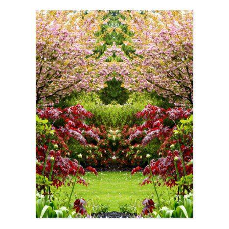 Vintage Flower Garden Postcard Zazzle Com Vintage Flowers Flower Garden Postcard
