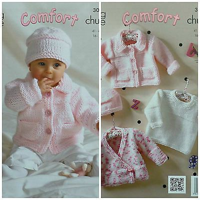 """King Cole 5206  Baby Cardigans DK Knitting Pattern Size 14-22/"""""""