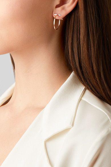 a70e8693112d3 TIFFANY & CO. T Wire glamorous 18-karat rose gold hoop earrings in ...
