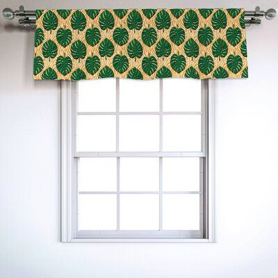 East Urban Home Tropical 54 Window Valance In 2020 East Urban Home Window Valance House Styles