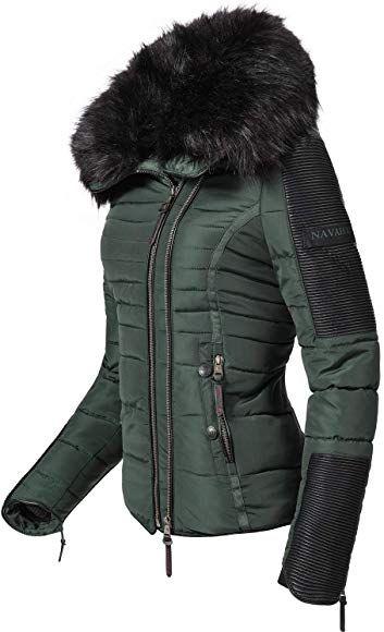 Navahoo Damen Jacke Winterjacke Steppjacke Yuki2 Schwarz Gr