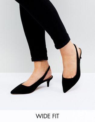 SPIRIT Wide Fit Slingback Kitten Heels