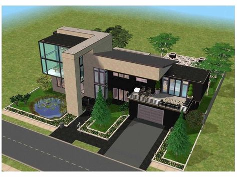 Screet Minecraft Modern House Step by Step Casas modernas arquitectura Plano de vivienda