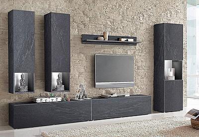 Tecnos Wohnwand Set 6 Tlg Auf Rechnung Bestellen Living Room Tv Wall Modern Tv Wall Units Tv Wall Decor