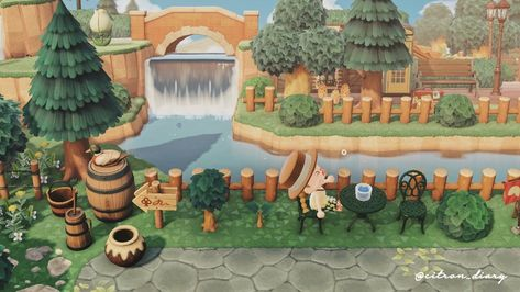 Animal Crossing Town Tune, Nintendo Switch Animal Crossing, Animal Crossing Wild World, Acnl Paths, Antique Bird Cages, Talking Animals, Island Design, New Leaf, Game Art
