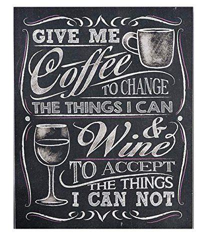 Gift Craft Give Me Coffee Wall Sign Chalkboard Coffee Chalkboard