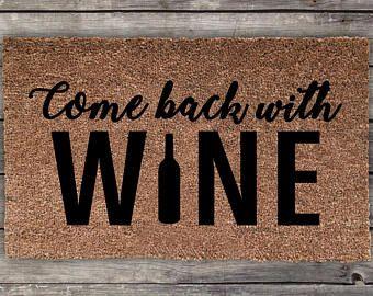 Items Similar To Wine Doormat Funny Door Mat Cute Doormat