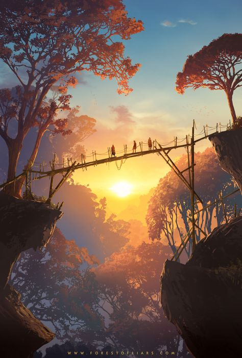 """Step into the forest of liars"" Re New adventure game inspired by American . - Young Lady Fashion - ""Step into the forest of liars"" Re New Adventure Game Inspired by American … – - Fantasy Artwork, Fantasy Concept Art, Fantasy Places, Environment Concept, Environmental Art, Aesthetic Art, Travel Aesthetic, Landscape Art, Forest Landscape"