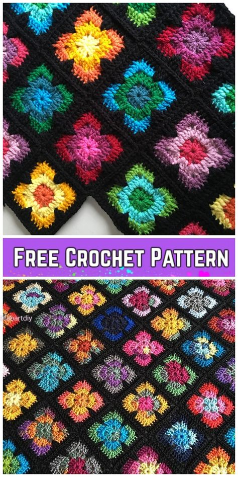 Most recent Pictures Crochet afghan blanket Thoughts Crochet Retro Vibe Square Kostenlose Häkelanleitung, Crochet Afghans, Poncho Crochet, Afghan Crochet Patterns, Knitting Patterns, Crochet Blankets, Rug Patterns, Crochet Blocks, Granny Square Crochet Pattern, Crochet Squares